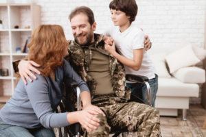 war veteran in a wheelchair