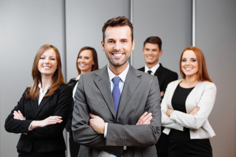 executives posing
