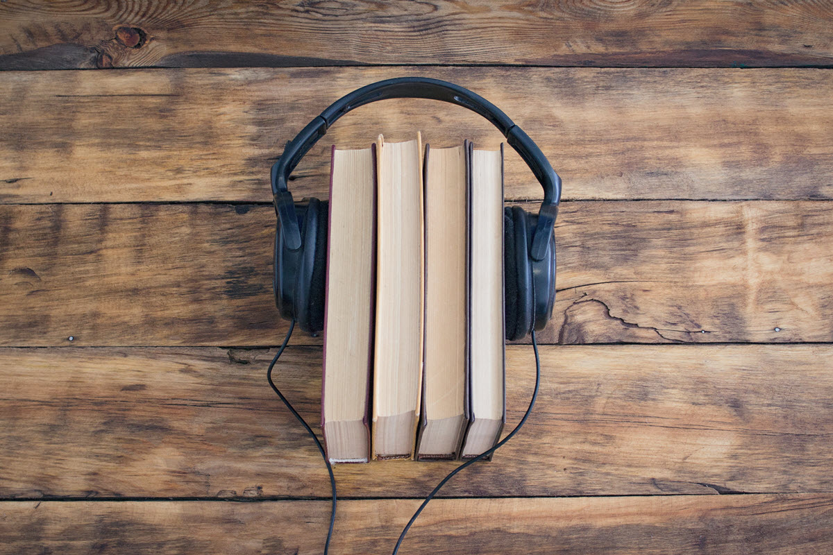 book with headphone