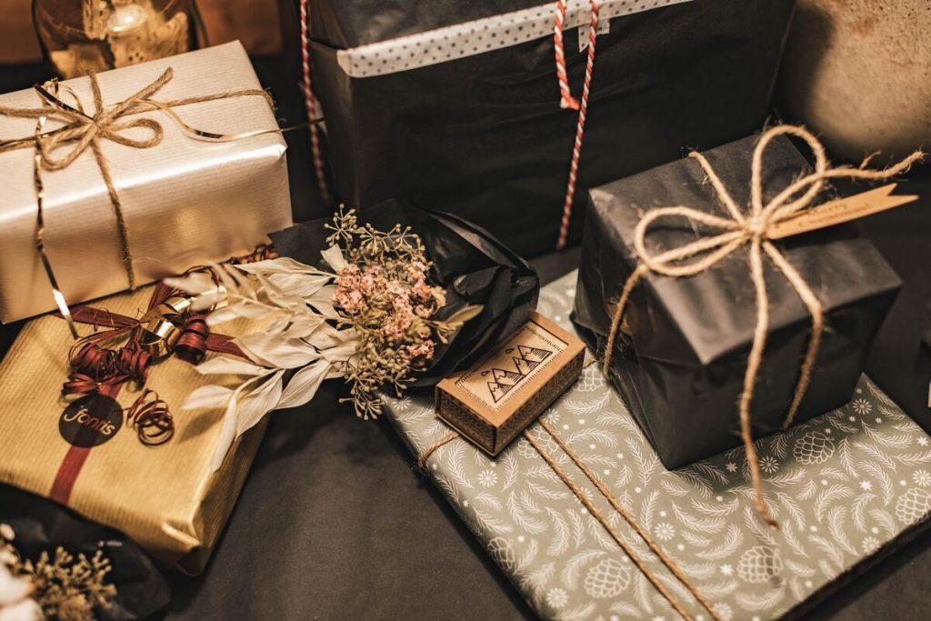 gifts flatlay