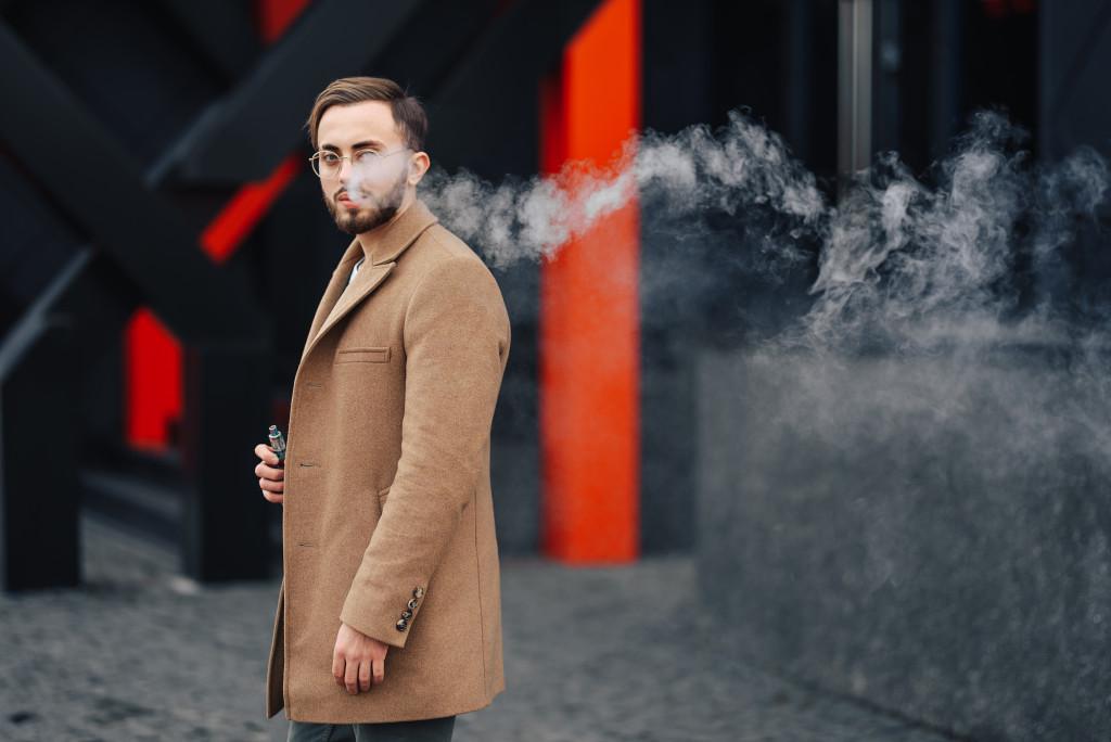 man wearing fashionable coat